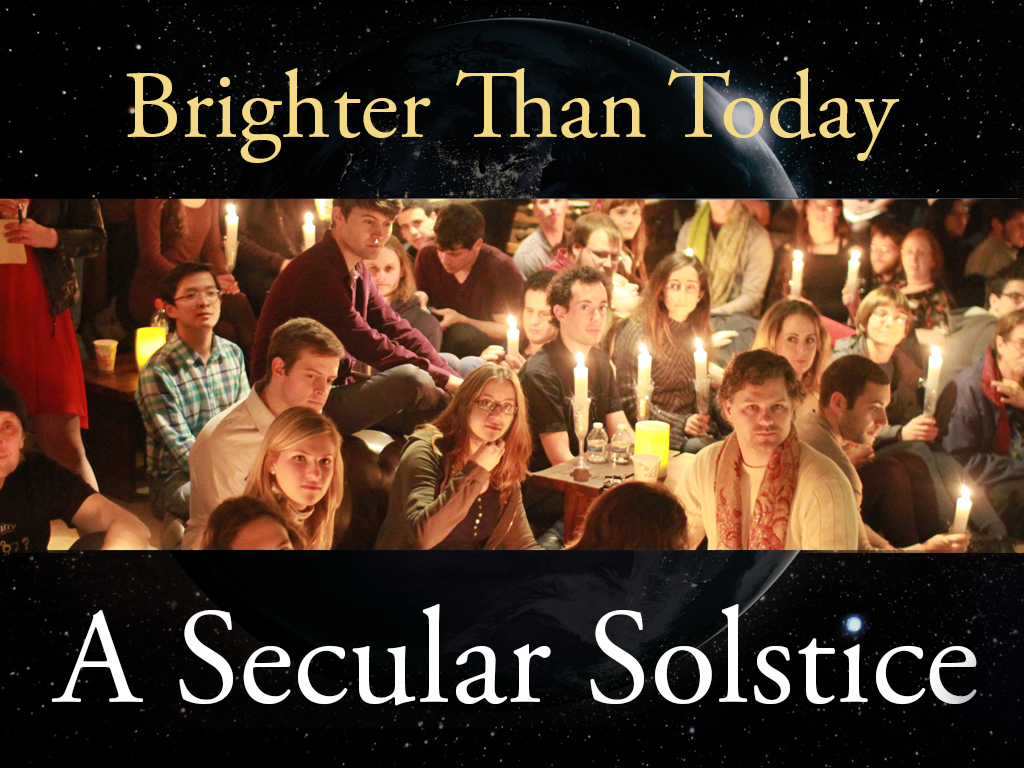 Promo image: 'Brighter than Today: A Secular Solstice'